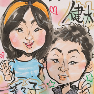 千葉県へ似顔絵イベント出張