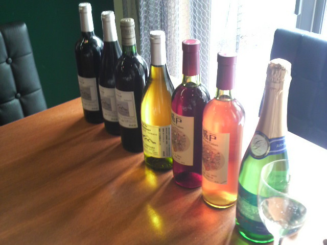 本日のワインは「城戸ワイン」「VOTANO VINEYARD」「五一ワイン」です。