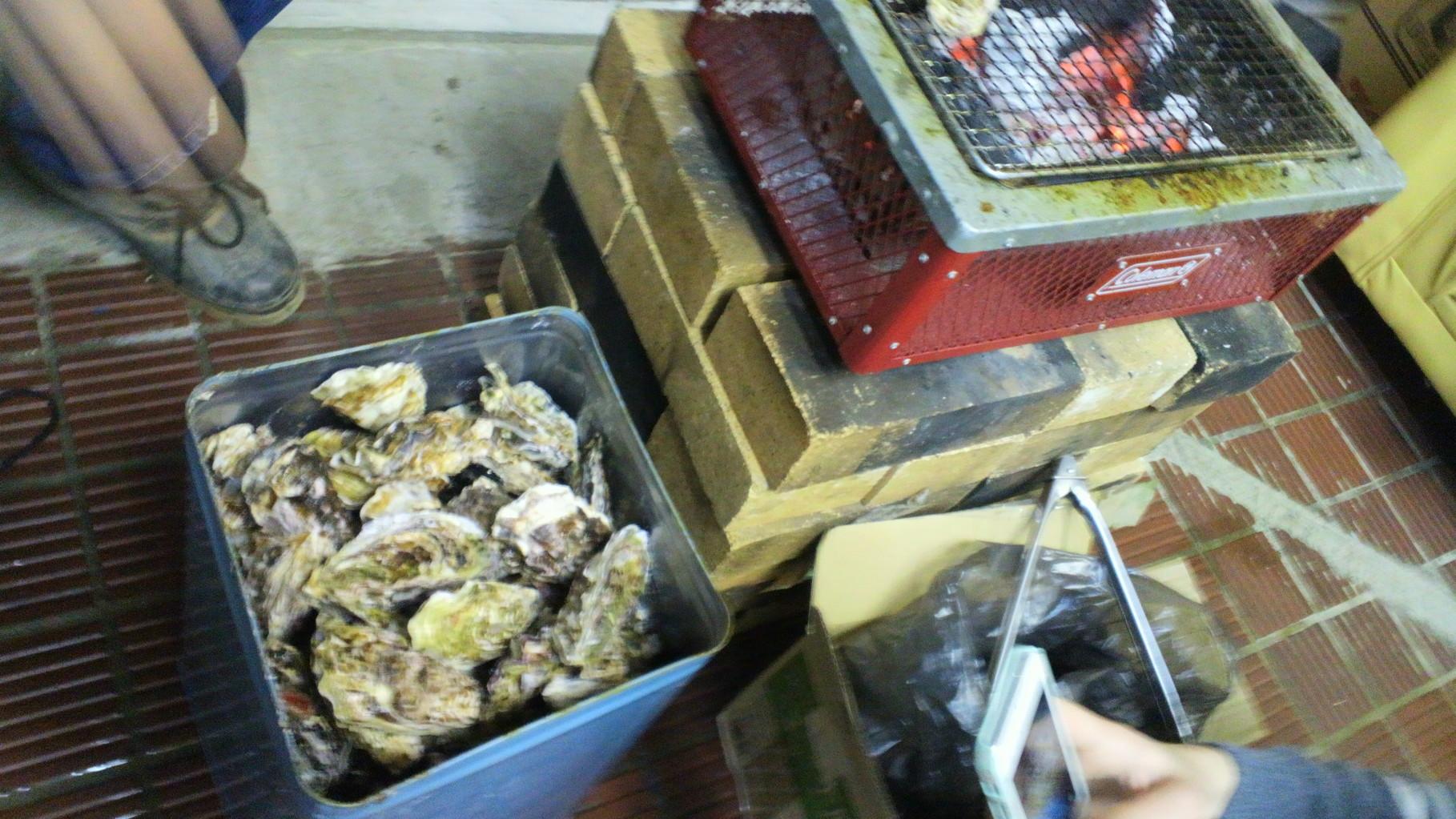 広島産牡蠣と日本酒でお祝いです