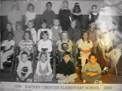 Nicholas and his 1st grade class- Eastern Christian Elementary School, 1999-2000