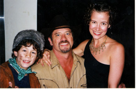Nick, Tom Wopat (Frank) and Mollie Stickney (child wrangler) - credit nicholasjonas.com