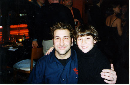 Joey Fatone and Nicholas reconnect at the party Wednesday, October 23rd 2002 - Credit nicholasjonas.com
