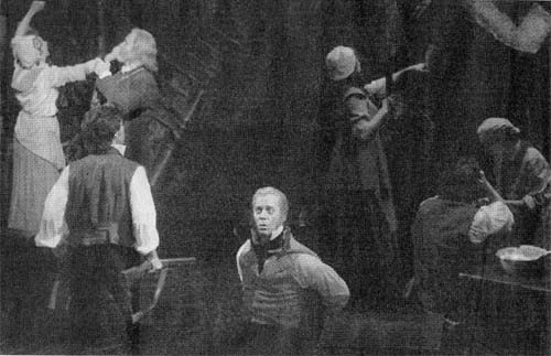 New York Times scan from the closing night. Around the First Attack. Nick is the little blurry thing on the right. We do NOT own this picture!
