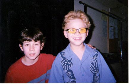 Nick with child star Jonathan Lipnicki - credit nicholasjonas.com