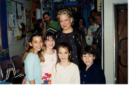 Bette Midler visits backstage, May 23rd 2001 - credit nicholasjonas.com