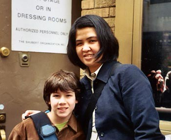 May 14th, 2003, stage door with Christine Jimenez. CREDIT- Christine Jimenez
