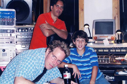 Nick in the studio with Carl Sturken and Evan Rogers - Credit SRP