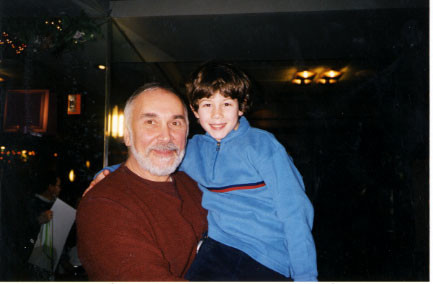 Nick with Frank Langella (Scrooge) - credit nicholasjonas.com