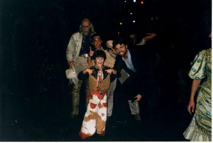 The leading men - Nick with Conrad John Schuck, Eric Sciotto, and Brent Barrett - credit nicholasjonas.com