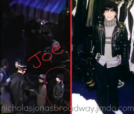"A screencap of Joe with a comparison picture in his ""punk kid"" outfit. You can see he is wearing the same hat and coat in both pictures."