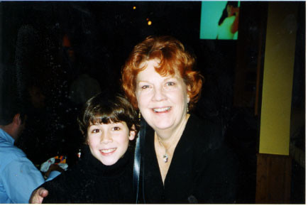 Nick with Beth Fowler (Mrs. Potts) at the party Wednesday, October 23rd 2002 - Credit nicholasjonas.com