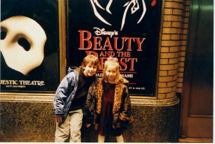 Nick with his cousin Brooke - Credit nicholasjonas.com
