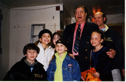 Nick, Restaneo sisters, Jenny, Jerry Lewis, his daughter, and Peter Marx - credit nicholasjonas.com