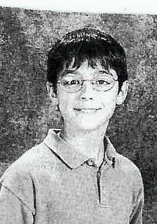 Joe's picture in the yearbook- ECMS. 6th grade, 2002
