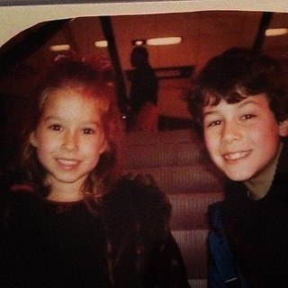 Nick with his cousin Brooke again. Inside the theater?