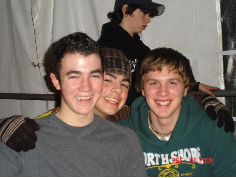Joe, Kevin and Nick with a friend.