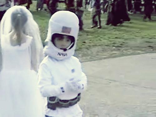 Frankie on Halloween.