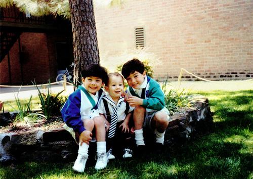 Jonas boys, 1993 - smiles for mama before kindergarten!