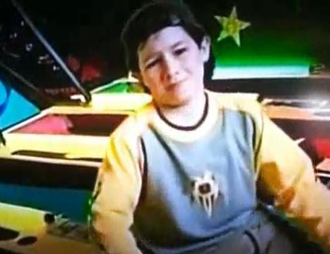 Nick on a Chuck E. Cheese's commercial.