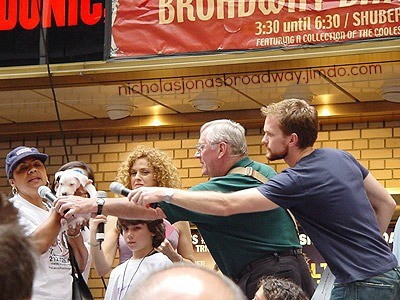 Nicholas, Bernadette Peters and a bearded Neil Patrick Harris at Broadway Barks 4, July 13th 2002.