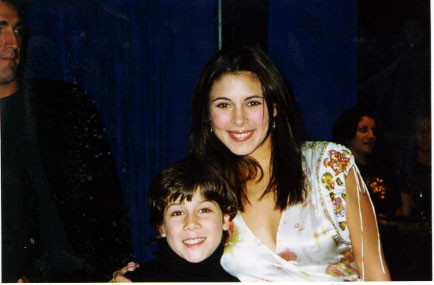 Nick with Jamie-Lynn Sigler (Belle) at the party Wednesday, October 23rd 2002 - Credit nicholasjonas.com