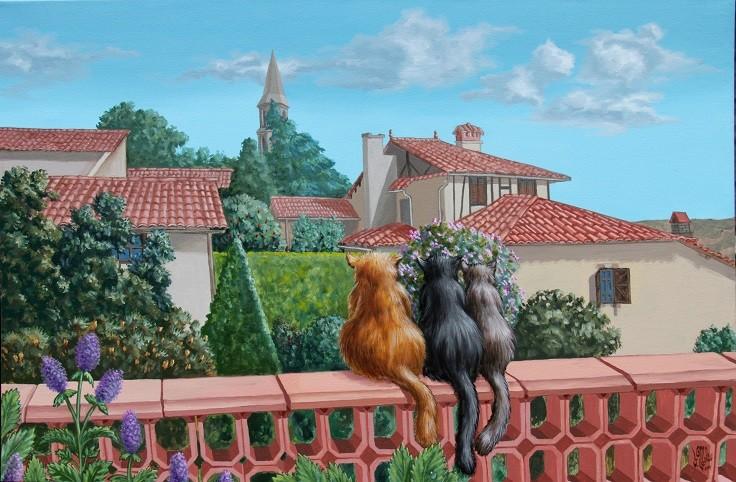 Saint-Frajou vu du musée par Victor Molev