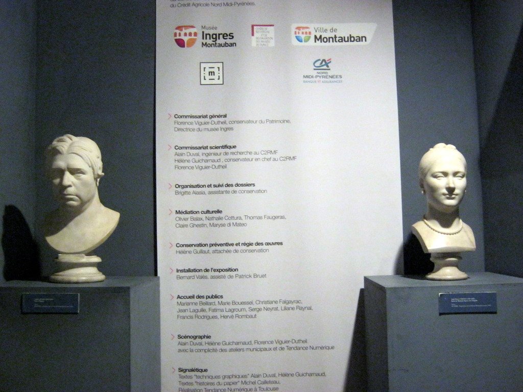 Bustes de Monsieur et Madame Ingres
