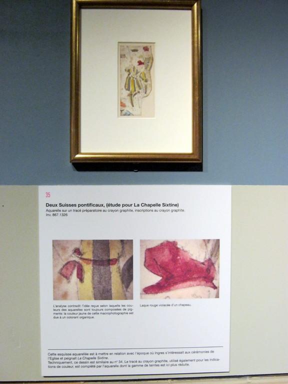 Deux Suisses pontificaux, étude pour La Chapelle Sixtine