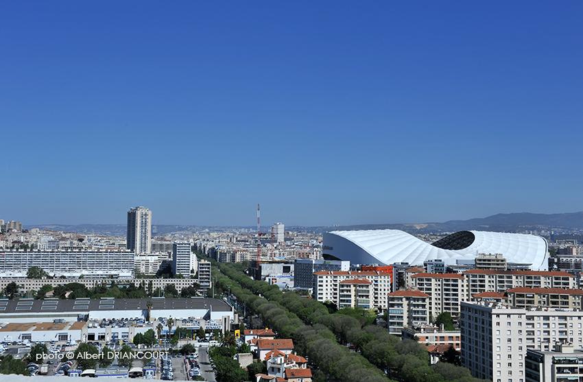 le quartier Ste Anne et le stade vélodrome