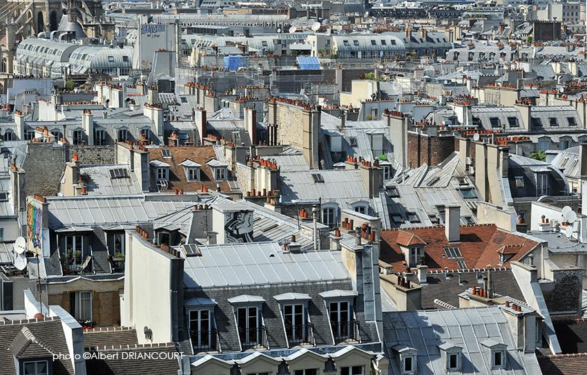 Détail sur les toits de Paris