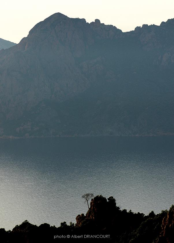 Isoler un sujet, les calanques de Piana, Corse