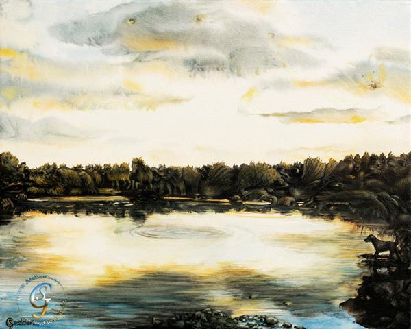 SeeSea, 50x40 cm, Aquarell/Acryl auf Leinwand