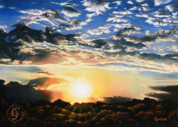 Abendschöne, 70x50 cm, Öl auf Leinwand