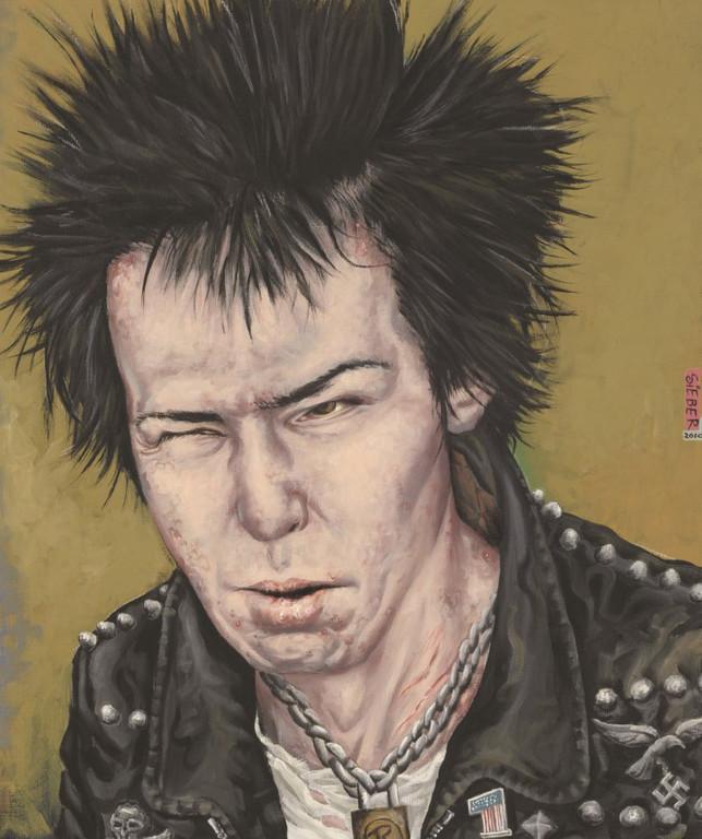 Gemälde 370  Sid Vicious   Acryl auf Leinw.,2010,    50 x 60 cm