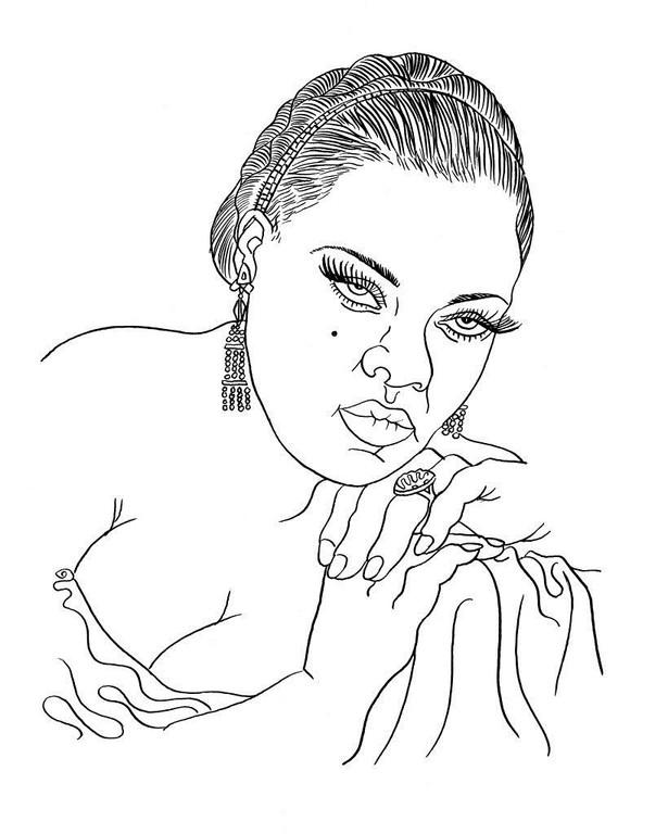 Zeichnung 111  Lavern Baker  Tusche auf Karton,2008, 25 x 32,5 cm