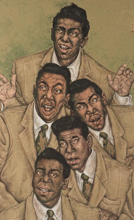 Gemälde 280  Vocal Group   Acryl auf Leinw. ,2009,   90 x 145 cm