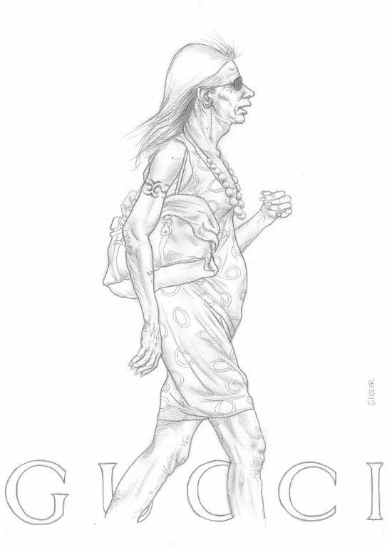 Zeichnung 437  Cucci  Graphit  auf Karton,2011,  30x42 cm