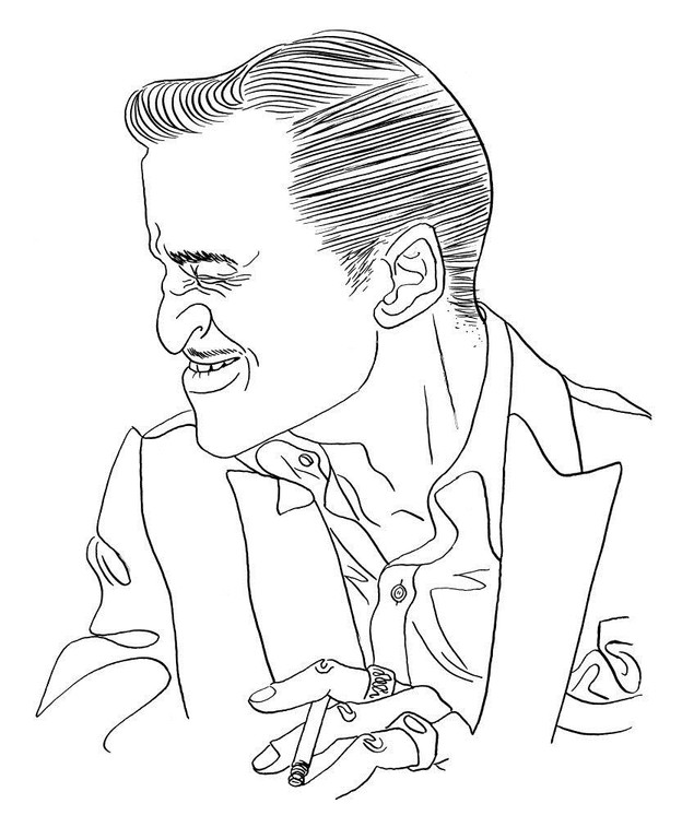 Zeichnung 226  Sammy Davis Jr.  Tusche auf Karton,2009, 25 x 32,5 cm