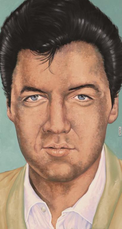 Gemälde 349  Hollywood Presley   Acryl auf Leinw. ,2010, 70 x 150 cm