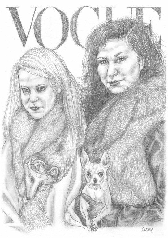 Zeichnung 467  Vogue   Graphit auf Karton,2011, 30x42 cm