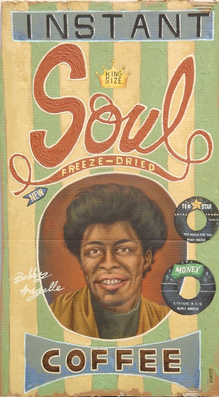 Gemälde 393  Instant Soul Coffee   Acryl auf Pappe ,2010, 65 x 117 cm