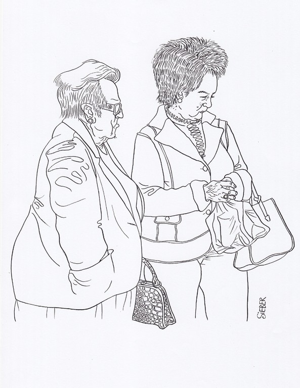 Zeichnung 99   Krokotasche   Tusche auf Karton,2008,   30 x 40 cm
