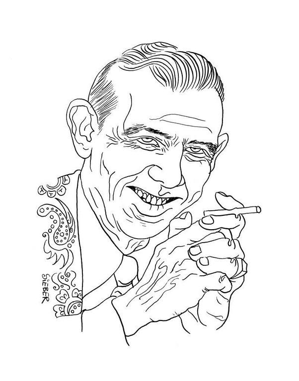 Zeichnung 284  Hank Snow  Tusche auf Karton ,2010,25 x 32,5 cm