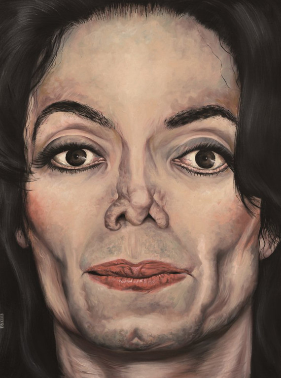 Gemälde 372  King of Pop   Acryl auf Leinw.,2010,    80 x 110 cm