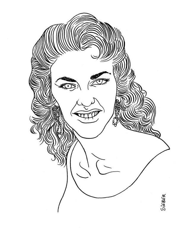 Zeichnung 275  Wanda Jackson  Tusche auf Karton,2010, 25 x 32,5 cm