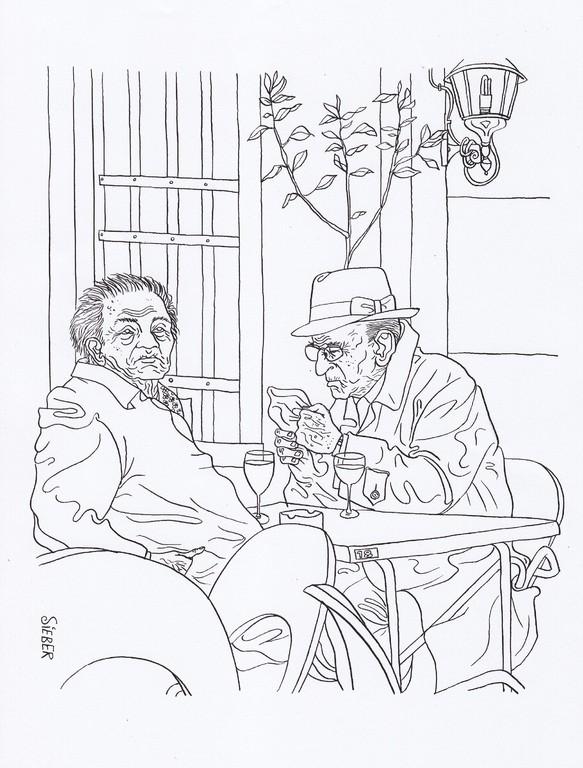 Zeichnung 101   Tisch 18   Tusche auf Karton,2008,   30 x 40 cm
