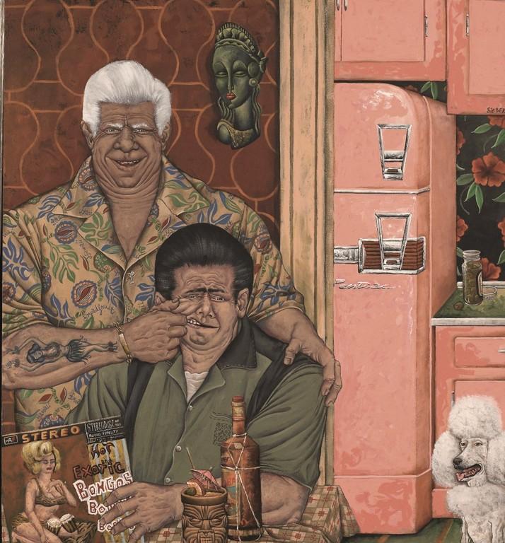 Gemälde 123  Exotic Bongos   Acryl auf Leinw.,2006,    120 x 130 cm