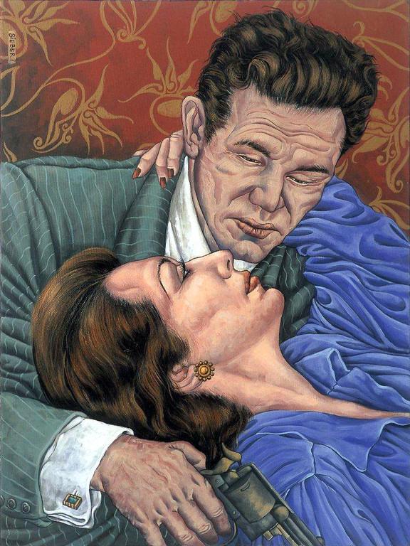 Gemälde 229  Last Kiss   Acryl auf Leinw.2007,  60 x 80 cm