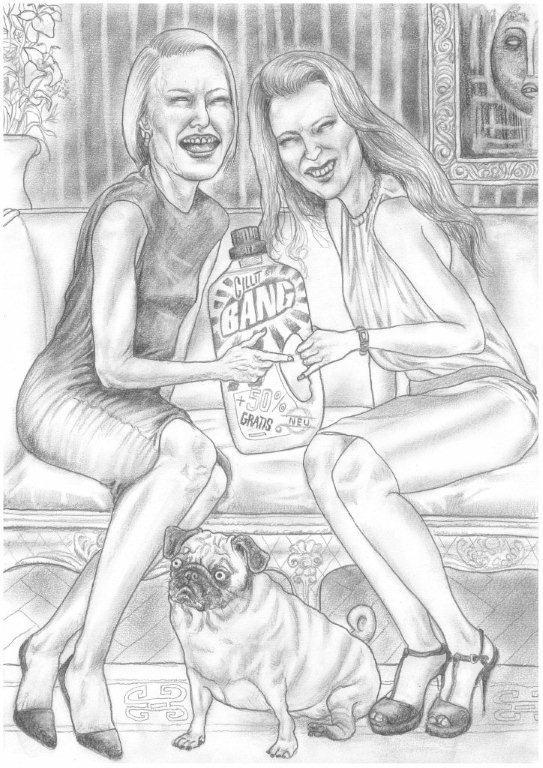 Zeichnung 458  Bang  Graphit auf Karton,2011,  30x42 cm