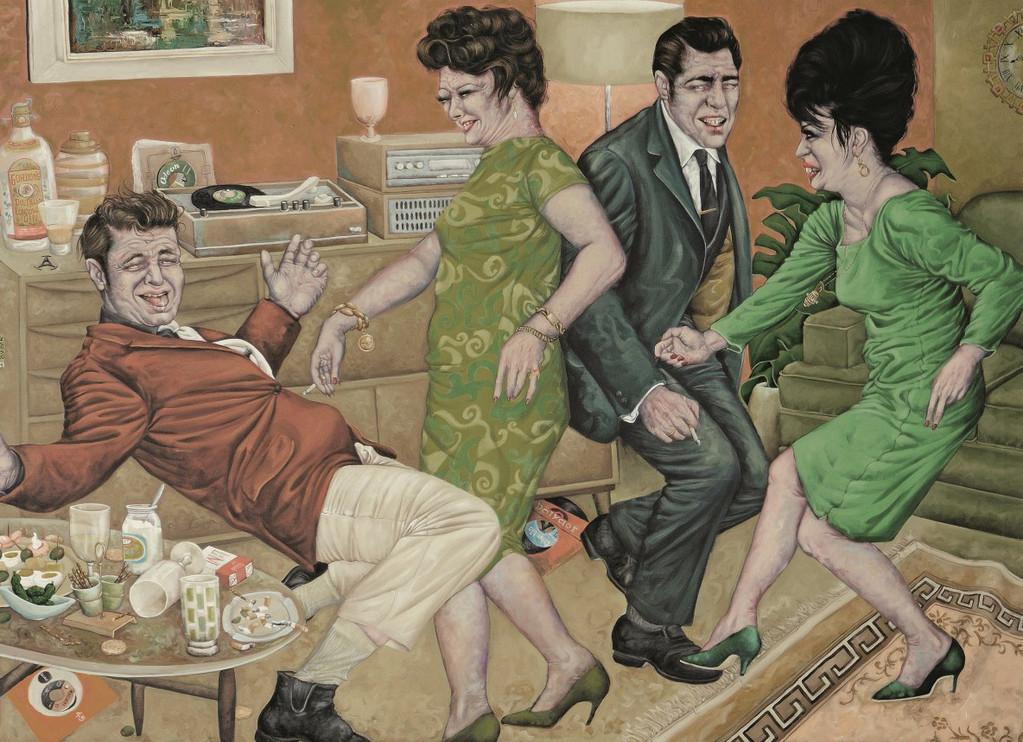Gemälde 286  Le Twist  Acryl auf Leinw.,2009,  130 x 180 cm
